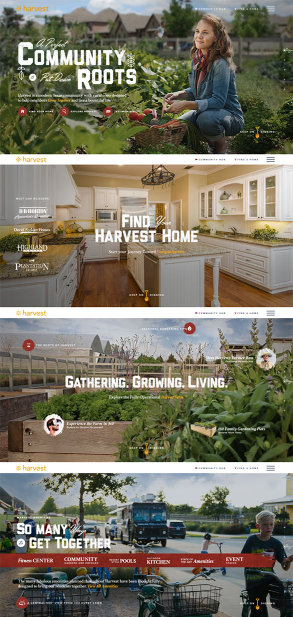 Harvest Website Preview Home Page