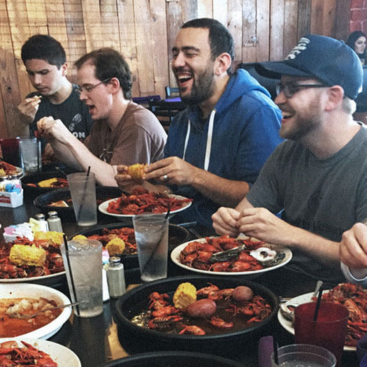 RFTB's crawfish lunch